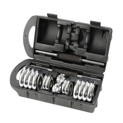 15kg Chrome Dumbbell Set in a Case - Box