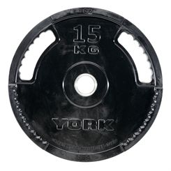 York 15kg G2 Rubber Thin Line Olympic Weight Plate