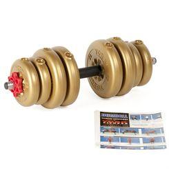 York 15kg Gold Adjustable Vinyl Spinlock Dumbbell
