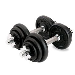 York 20kg Black Cast Iron Dumbbell Set