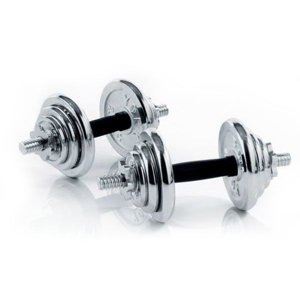 York Chrome Dumbbell Set 15kg: York 20kg Chrome Dumbbell Set