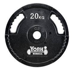 York 20kg G2 Cast Iron Olympic Weight Plate