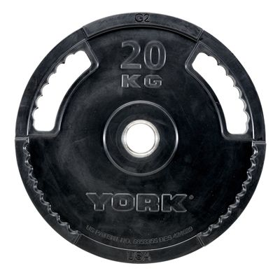 York 20kg G2 Rubber Thin Line Olympic Weight Plate