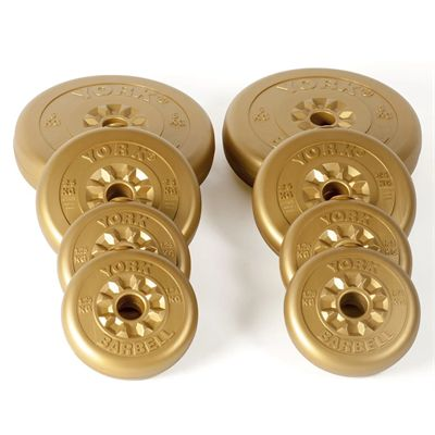York 20kg Gold Vinyl Weight Plates