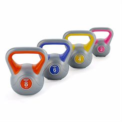 York 2, 4, 6 and 8kg Vinyl Kettlebell Weight Set