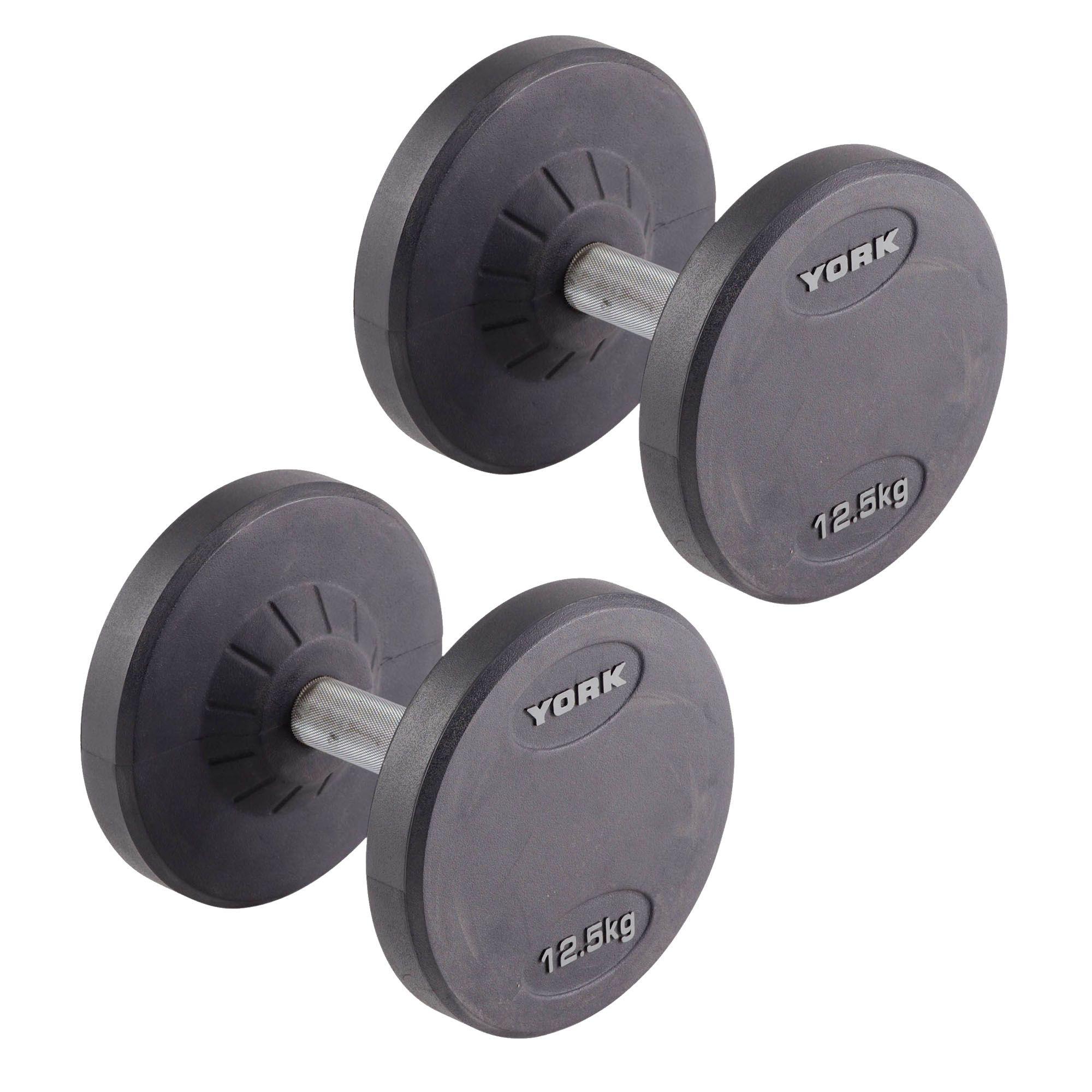 York 2 X 12.5kg Pro-Style Dumbbells