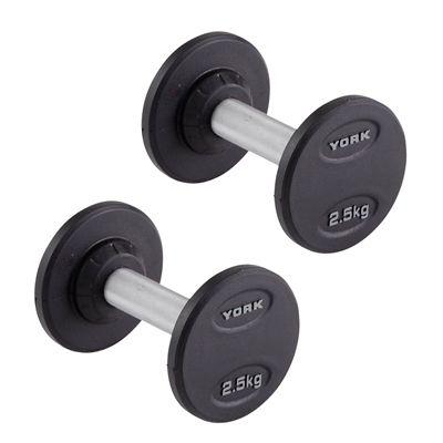 York 2 x 2.5kg Pro-Style Dumbbells