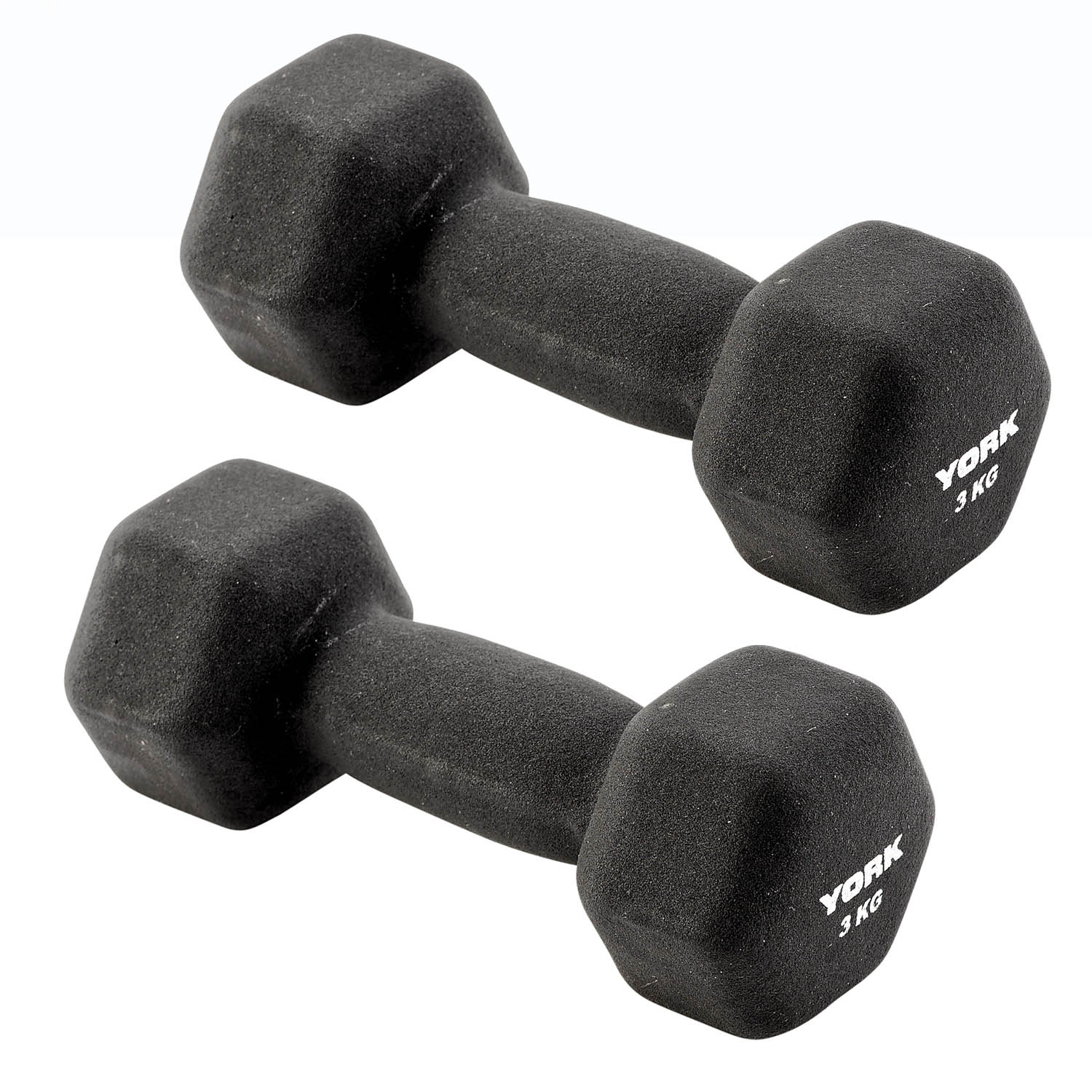 York 2 x 3kg Neo Hex Dumbbell