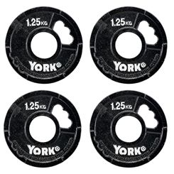York 4 x 1.25kg G2 Cast Iron Olympic Weight Plates
