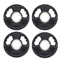 York 4 x 1.25kg G2 Rubber Thin Line Olympic Weight Plates