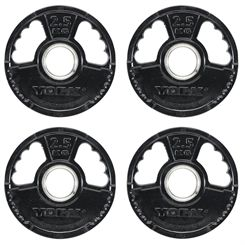 York 4 x 2.5kg G2 Rubber Thin Line Olympic Weight Plates