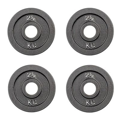 York 4 x 2.5kg Olympic Cast Iron Plates
