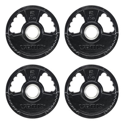 York 4 x 5kg G2 Rubber Thin Line Olympic Weight Plates