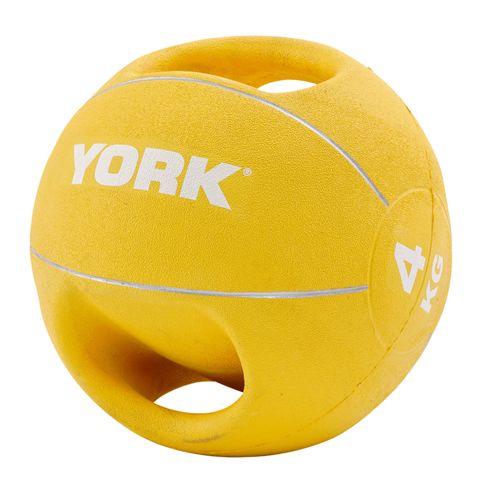 York 4kg Double Grip Medicine Ball