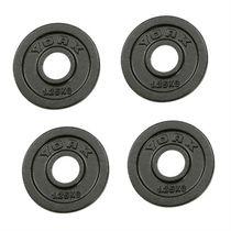 York 4x 1.25kg Hammertone Cast Iron Olympic Plates
