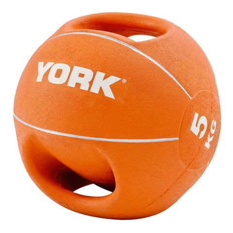 York 5kg Double Grip Medicine Ball