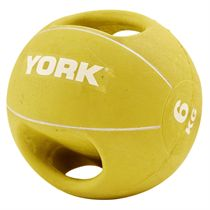York 6kg Double Grip Medicine Ball