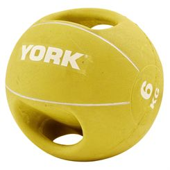 York 6kg Double Grip Medicine Ball