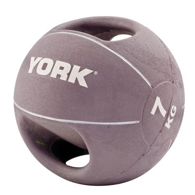 York 7kg Double Grip Medicine Ball