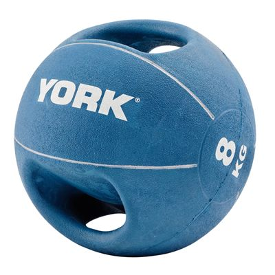 York 8kg Double Grip Medicine Ball