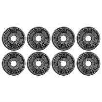 York 8x 1.25kg Black Cast Iron 1Inch Plates