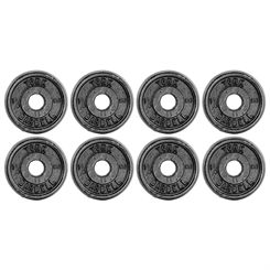 York 8x 1.25kg Black Cast Iron 1Inch Plates