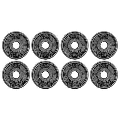 York 8x1.25kg Black Cast