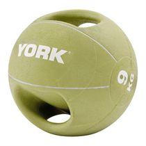 York 9kg Double Grip Medicine Ball
