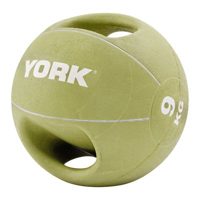 York 9kg Double Grip Medicine Ball