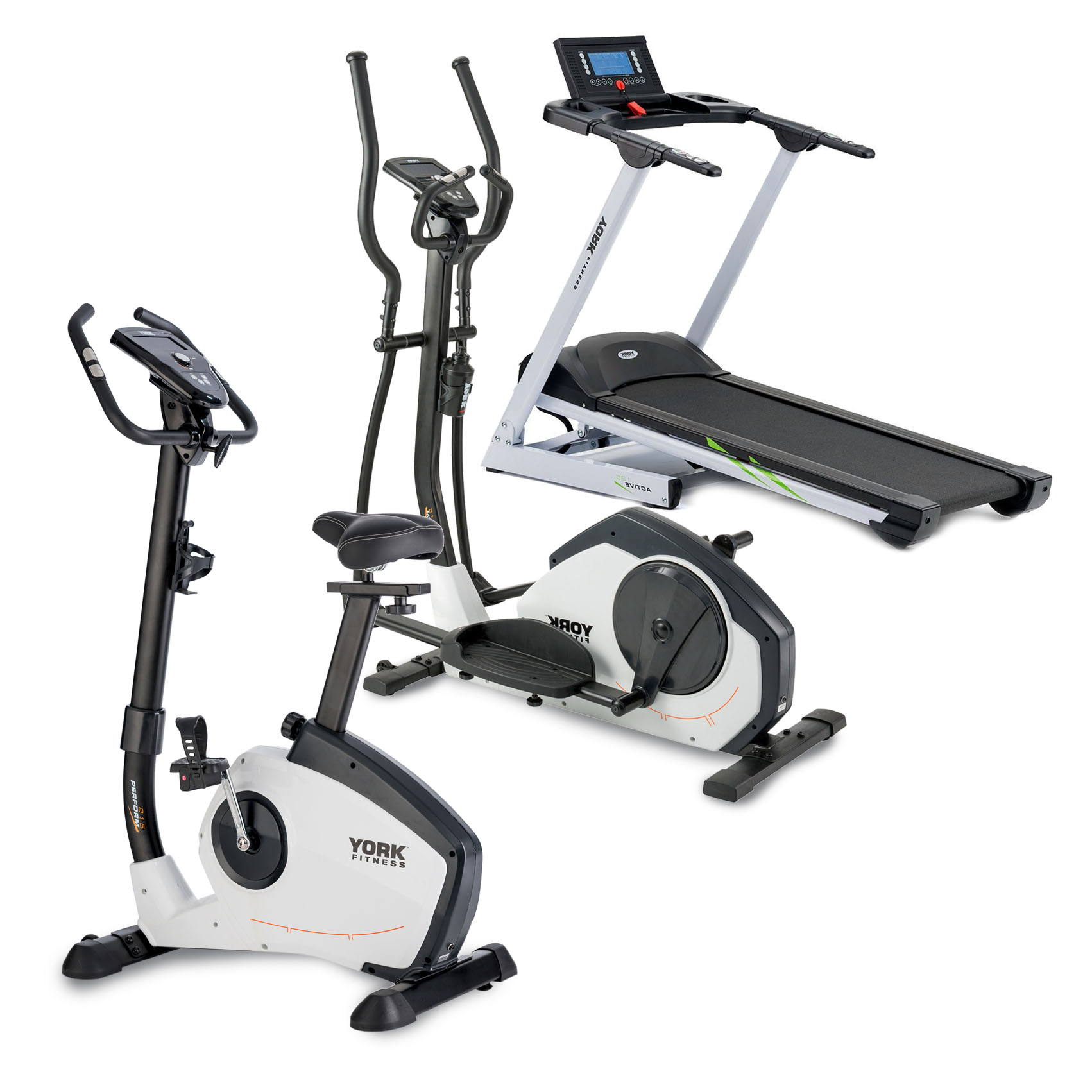 Elliptical Bike Or Treadmill: York Fitness Complete Cardio Package
