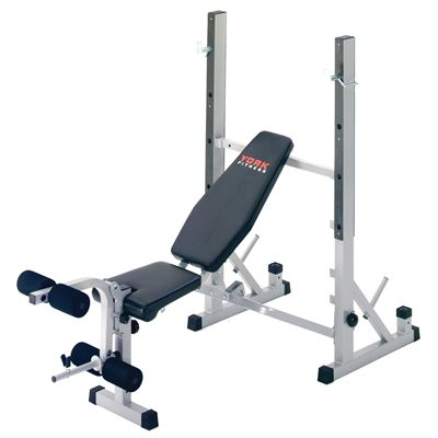 York B540 2 in 1 Weight Bench Front View
