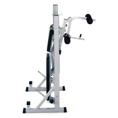 York B540 Folding Weight Bench and Viavito 50kg Cast Iron Weight Set - Site