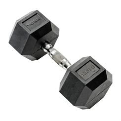 York 12.5kg Rubber Hex Dumbbell