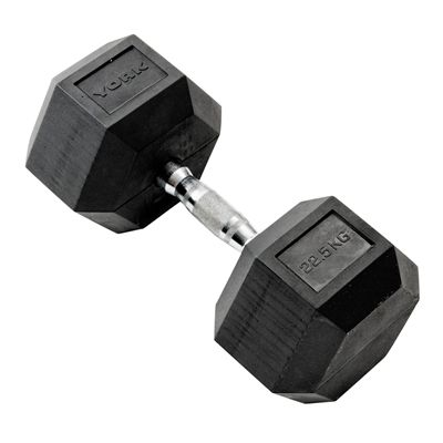 York Commercial 22.5kg Rubber Hex Dumbell