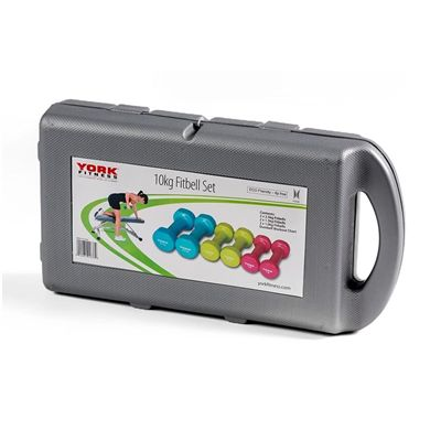 York Fitness 10kg Fitbell Set in a Case 2018 - Closes