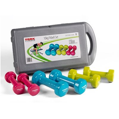 York Fitness 10kg Fitbell Set in a Case 2018 - Side