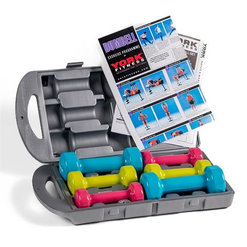 York Fitness 10kg Fitbell Set in a Case