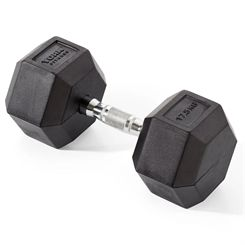 York Fitness 17.5kg Rubber Hex Dumbbell