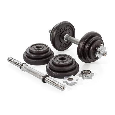 York Fitness 20kg Cast Iron Dumbell Set With Case - Dumbbells1