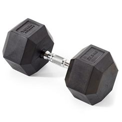 York Fitness 22.5kg Rubber Hex Dumbbell