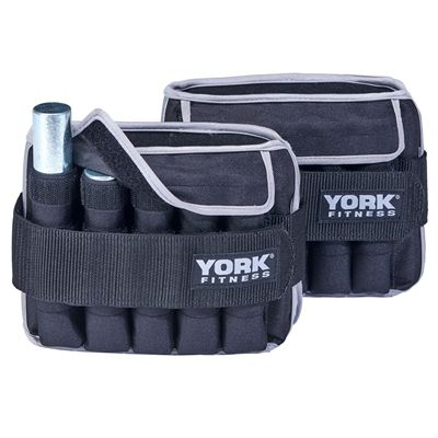 York Fitness 2 x 5kg Ankle Weights - Main