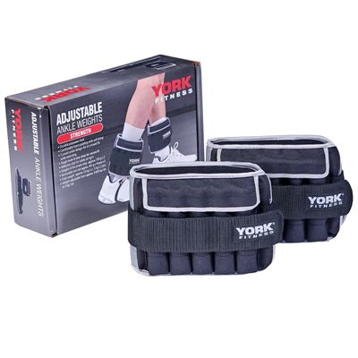 York Fitness 2 x 5kg Ankle Weights - with Box