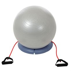 York Fitness Gym Ball Set with Base and Resistance Tubes