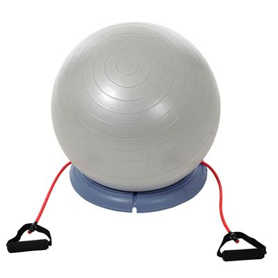 York Fitness Gym Ball Set with Base and Resistance Tubes