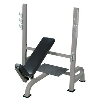 York Incline Bench with Gun racks