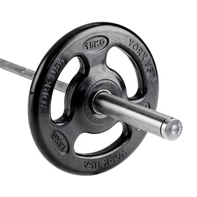 York ISO-Grip Rubber Olympic Weight Plates - 15kg