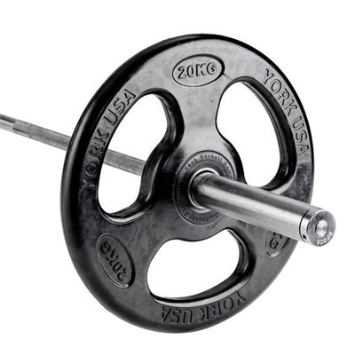 York ISO-Grip Rubber Olympic Weight Plates - 20kg