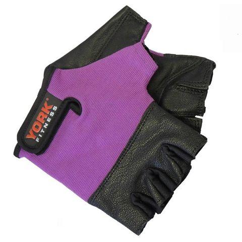 York Ladies Leather Weightlifting Gloves