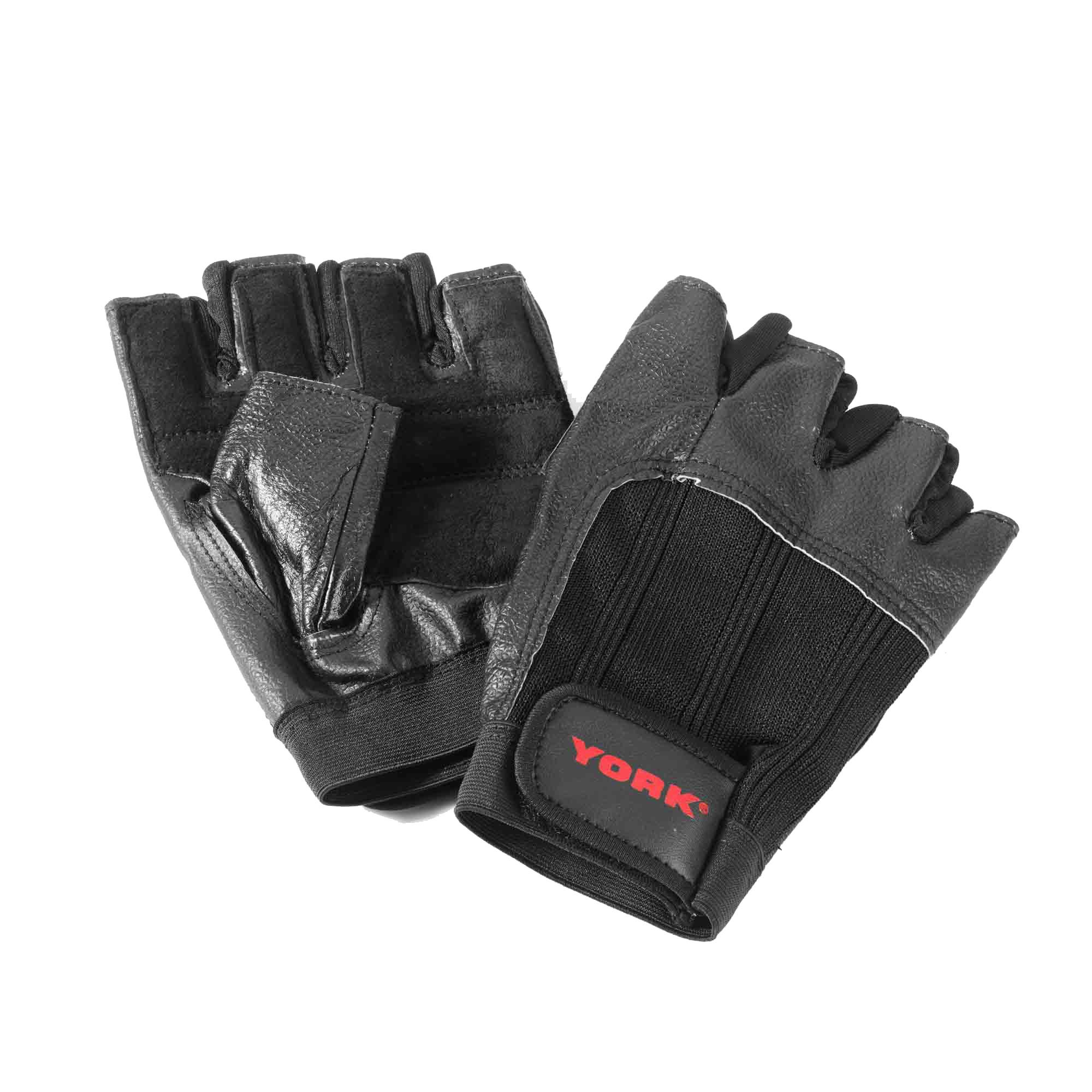 Fitness Gloves New Zealand: York Leather Weight Lifting Gloves