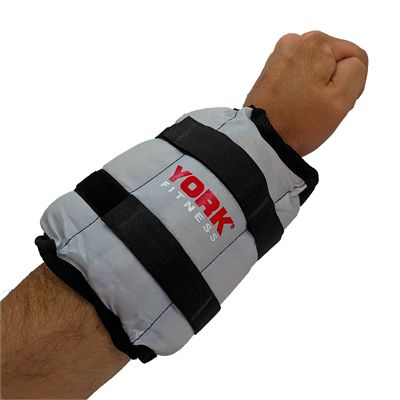 York Nylon Wrist and Ankle Weights - 3kg - In Use